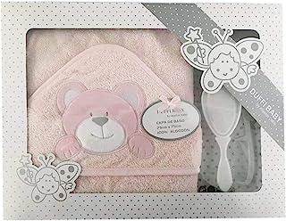 Duffi Baby 0827-06 浴巾 + 梳子 , 粉红色 , 女孩