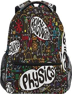 Ombra 背包 物理数学物理教育 书包 大号防水 耐用书包 笔记本电脑背包 适合学生 儿童 女孩 男孩 小学生