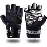SIMARI 锻炼手套女士男士,训练手套手腕支撑健身锻炼举重健身健身健身房交叉健身,制作超细纤维莱卡 SMRG902