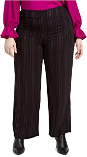 Bar III 女式加大条纹套装独立阔腿裤
