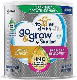 Similac 雅培 Go&Grow 幼儿奶粉,12-36个月 含2'-FL HMO,含25种主要营养成分,24盎司/680g 罐装