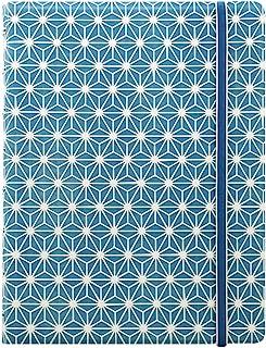 FILOFAX 可填充印象笔记本,A5(8.25 英寸 x 5 英寸)蓝色和白色 - 112 页奶油色可移动页 - 索引、口袋和页标记 (B115039U)
