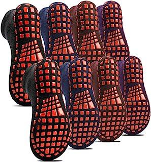 HOME RIGHT 蹦床袜,蹦床配件防滑袜室内硅胶橡胶底棉袜锻炼运动8双/套