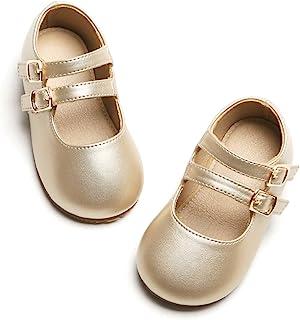 Otter MOMO 女童芭蕾平底鞋玛丽珍礼服鞋蝴蝶结结