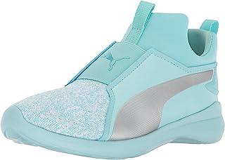 PUMA Kids' Rebel Mid Fashion Knit Sneaker