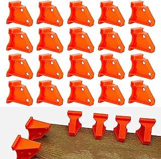 地板垫片,层压木地板工具,1/4 英寸(约 0.6 厘米)和 1/2 英寸(约 1.3 厘米)间隙硬木和浮动,特殊三角形固定,兼容乙烯基板、硬木和浮动地板安装 - (20 件装)