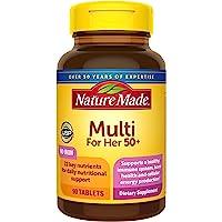 Nature Made 50+女性复合维生素片,含维生素D3等22种重要的维生素和矿物质(3件装)