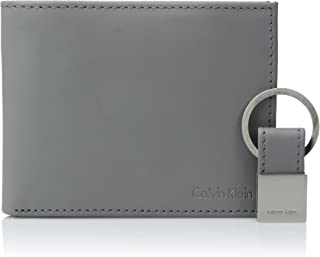 Calvin Klein RFID Blocking 男士皮革双折钱包