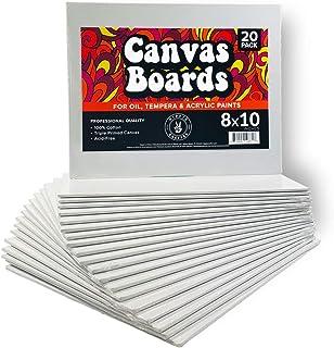 20 件装油画板 8x10 空白艺术画布板 用于绘画