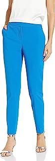 Vince Camuto 女士纹理斜纹前拉链及踝裤