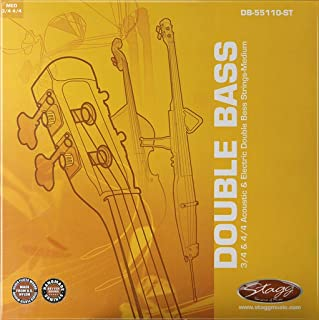 Stagg DB-55110-ST 双低音弦组适用 3/4 和 4/4