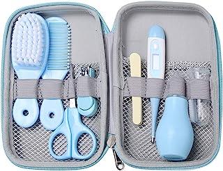 8 件套婴儿日常护理套装,方便的婴儿*和*套装,包括*剪刀、*剪、梳子、鼻子、清洁刷、手指牙刷、*护理套装