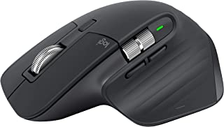 Logitech 羅技 MX Master 3 無線鼠標,藍牙,USB接收器2.4GHz連接,4000 DPI傳感器,超快速滾動,適用于所有表面,7個按鈕,PC / Mac / iPadOS,深灰色