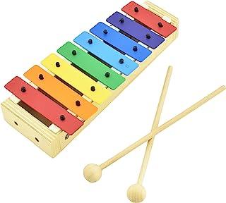 MUSICUBE 儿童木琴 木琴 带木槌 Orff 乐器 适用于教育和学前学习婴儿打击乐器 带专业调音 适合幼儿礼物 适合年龄