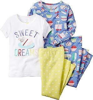 Carter's 卡特女婴印花睡衣套装 4 件套 甜点 6 Months