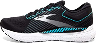 Brooks 女式 Transcend 7 跑鞋, Black/Ebony/Blue Bird, 10 UK