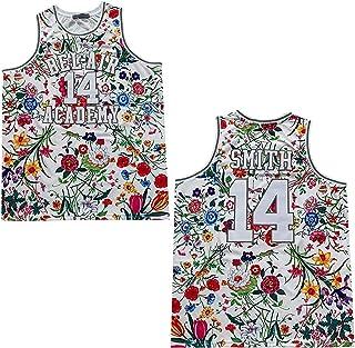 Rainbow Hawk 男式 Fresh Prince of Bel Air 球衣 #14 Smith Flowers 篮球球衣