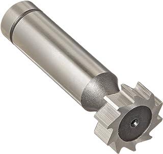 """KEO 93932 钴钢 Woodruff Keyseat 切割器,无涂层(亮)饰面,圆形柄,1/2"""" 柄直径,1/4"""" 切割器直径,8 直齿,1/16"""" 面宽度"""