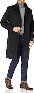 London Fog 男式经典羊毛混纺大衣