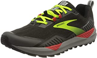 Brooks 男式 Cascadia 15 跑鞋 Black/Raven/Cherry Tomato, 10 UK