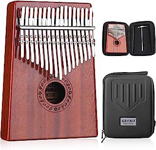 GECKO Kalimba 17 键拇指钢琴内置 EVA 高性能保护箱、调谐锤和学习说明。