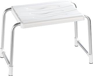 Wenko 17929100 Secura 塑料铝淋浴凳,50 x 32 x 26 厘米,白色