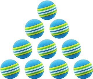 WHYHKJ 12 件 EVA 泡沫高尔夫练习球海绵室内高尔夫练习球训练辅助,蓝色