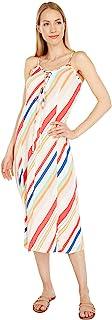 Hurley 女式 W 系带中长款连衣裙休闲连衣裙