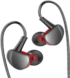 MOVOYEE 耳塞辅助耳机有线耳塞适用于 iPhone 6S 6 Plus/SE/iPod/三星 S10 S9 S8 / PC Xbox PS4 游戏,耳塞环绕式耳机降噪,适用于锻炼、跑步