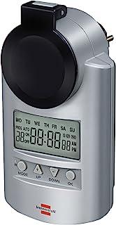 Brennenstuhl Primera-Line 定时器 DT IP44 数字定时器插座(周定时器,IP44 防护和儿童*) 银 4007123192021