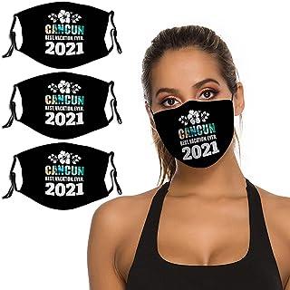 B&MAVIS *佳度假 2021 坎昆 3 件套面罩可水洗可重复使用头巾围巾可调节肩带和鼻夹中性款