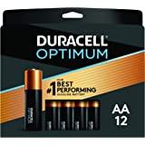 Duracell Optimum 1.5V 碱性 AA 电池,方便,可重新密封包装 AA 12份