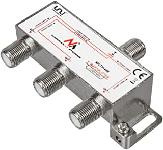 Maclean 卫星系统分配器 分离卫星分配器 5-2400MHz Unicable DVB-S2MCTV-496  3-Wege Verteiler