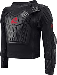 EVS Sports 中性儿童运动服弹道球衣(黑色/红色,青年 - L 码)