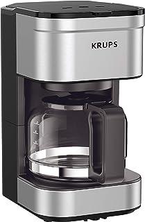 KRUPS Simply Brew 紧凑型过滤滴滤咖啡机,5 杯,银色
