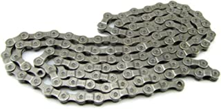 Denpetec 9 Speed 116 链条自行车链,自行车,镀锌钢替换链,9 档速度,适用于 MTB 山地自行车公路自行车链