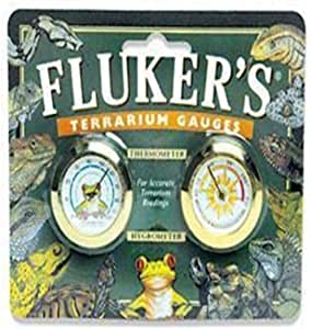 Fluker's 圆形温度计/湿度计组合套装 适用于爬行动物