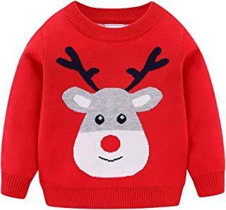 Mud Kingdom 男童毛衣圣诞驯鹿条纹
