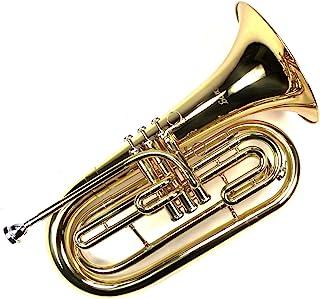 高级 Monel 活塞 Marching Baritone Key of Bb w/Case & Mouthpiece-金色漆面