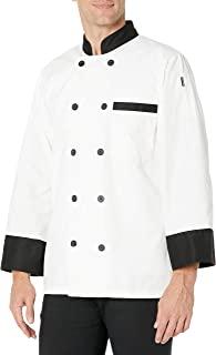 Chef Code 经典男式 10 黑色纽扣长袖厨师服