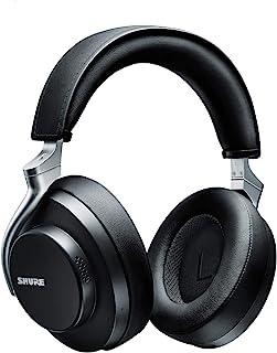 Shure 舒尔 AONIC 50 无线降噪耳机,高级录音室音质,蓝牙 5 无线技术,舒适贴合耳罩,20 小时电池寿命,指尖控制 - 黑色