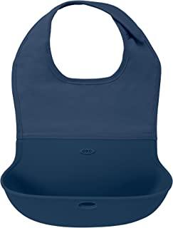 OXO TOT 防水硅胶卷边围嘴,舒适贴合面料颈部 *蓝 1份