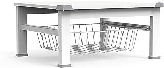 Meliconi Base Space 30 厘米,适用于洗衣机/烘干机或其他家用设备,带可拆卸篮,白色