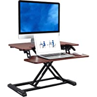 flexispot stand UP 办公桌转换器 – 带磨毛织物办公桌 riser 带 deeper 键盘托盘笔记本