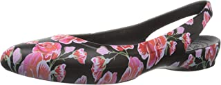 Crocs 女士 Eve 图形露跟平底鞋