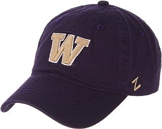 华盛顿大学爱斯基摩人队紫色休闲非定型 * 纯棉学院风成人男士/男孩/女士可调节棒球帽/帽子
