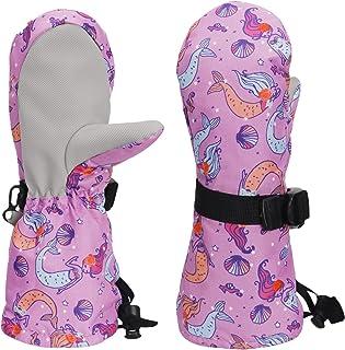 YOGEAW 婴儿和幼儿手套防水手套,适用于滑雪男孩雪地女孩儿童手套内衬羊毛,适合户外运动