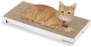 纸板猫抓板 抓挠柱:Smartbean 猫抓抓板 耐用高*纸板 室内猫玩具 双面设计 双重生活 (41.9 x 20.1 x 3.0 厘米)