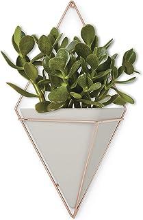 Umbra 470752-633 Trigg 悬挂式花盆,大号,混凝土/铜
