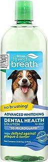 TropiClean Fresh Breath 狗狗口腔护理水添加剂,33.8 盎司(约 958.2 克),美国制造